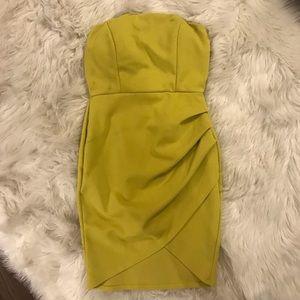 Neon Green Yellow Dress